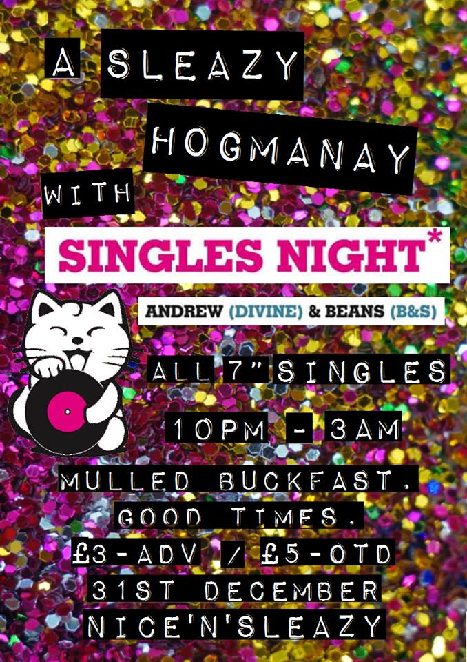 sleazy hogmanay vertical poster